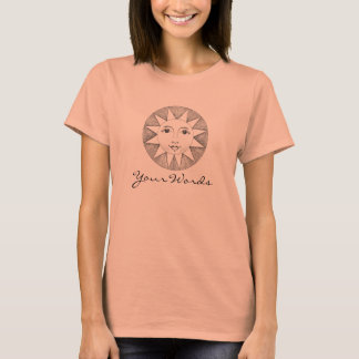 Sun with your words, and a winged scarab back T-Shirt