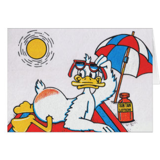 Sun Your Buns Vacation Humor Greeting Card