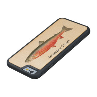 Sunapee Trout Fish Fishing Carved Maple iPhone 6 Bumper Case