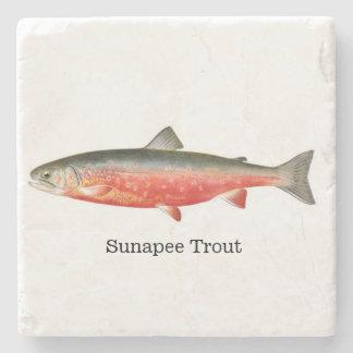 Sunapee Trout Fish Stone Coaster