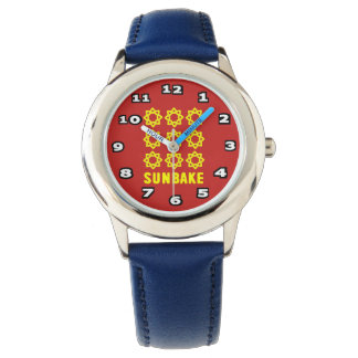 SunBake Kid's Stainless Steel Blue Watch