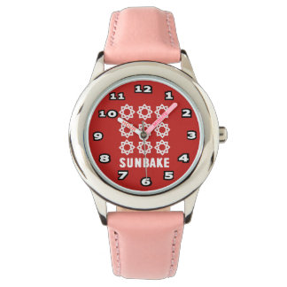 SunBake Kid's Stainless Steel Pink Watch