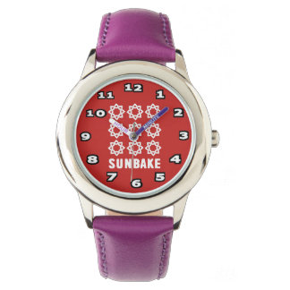 SunBake Stainless Steel Purple Watch