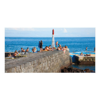 Sunbathing in Azores Personalized Photo Card