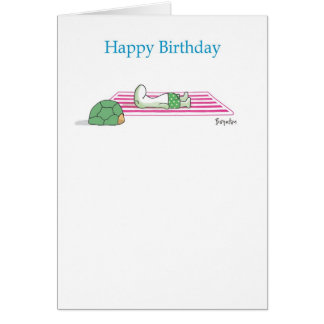 SUNBATHING TURTLE CARD