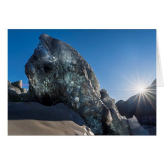 Sunbeam and ice, Iceland Card