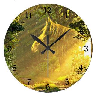 Sunbeam horse large clock