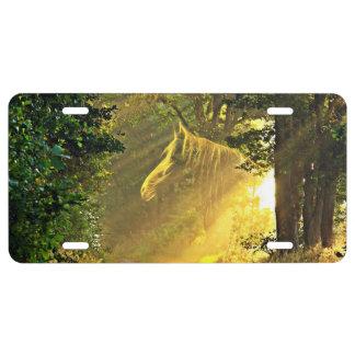 Sunbeam horse license plate
