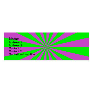 Sunbeams in Pink and Green Card Mini Business Card