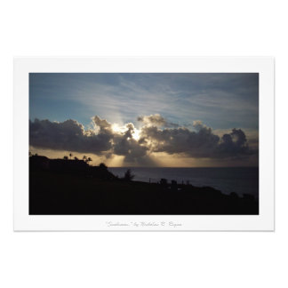 """Sunbeams"" Kauai Nature Decor Photo Print"
