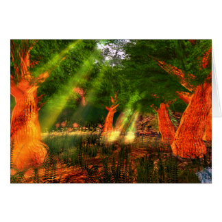 Sunbeams of Harmony Poetry Greeting Card with env.