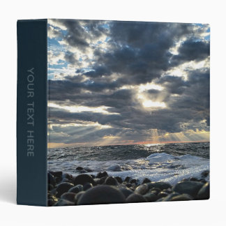 Sunbeams on a Rocky Shore Binder