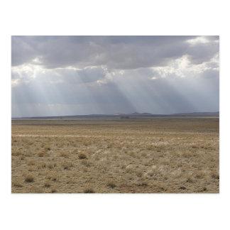 Sunbeams Over The Plain Postcard