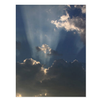 Sunbeams Shining Through The Clouds Postcard