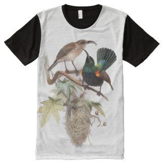 Sunbird Birds Nest Wildlife Animals T-Shirt