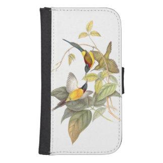 Sunbird Birds Wildlife Animals Botanical Galaxy S4 Wallet Case