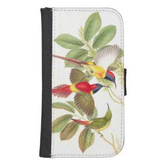 Sunbird Birds Wildlife Animals Botanical Galaxy S4 Wallet Cases