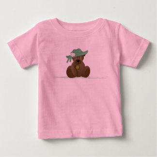 Sunbonnet Teddy Bear Baby T-Shirt