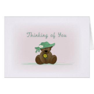 Sunbonnet Teddy Bear Thinking of You card