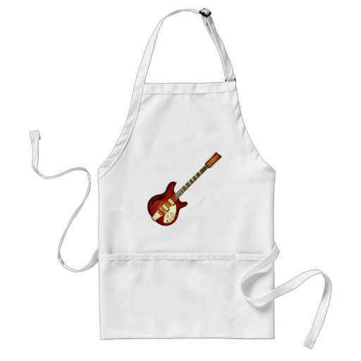 Sunburst 12 String Semi-hollow Guitar Aprons