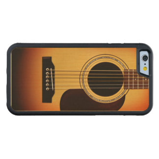 Sunburst Acoustic Guitar Carved Maple iPhone 6 Bumper Case