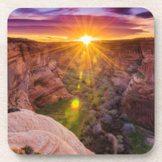 Sunburst at Canyon de Chelly, AZ Beverage Coasters