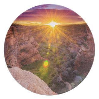 Sunburst at Canyon de Chelly, AZ Dinner Plates