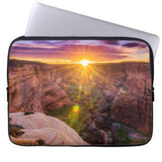 Sunburst at Canyon de Chelly, AZ Laptop Computer Sleeves