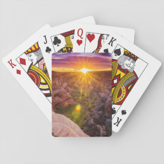 Sunburst at Canyon de Chelly, AZ Playing Cards