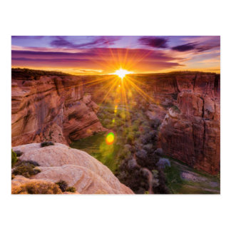 Sunburst at Canyon de Chelly, AZ Postcard