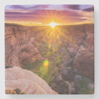 Sunburst at Canyon de Chelly, AZ Stone Beverage Coaster