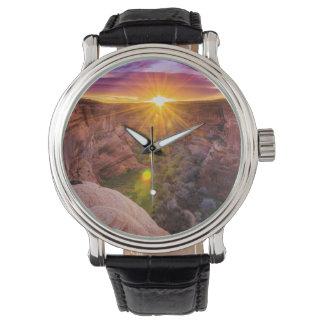 Sunburst at Canyon de Chelly, AZ Wristwatch