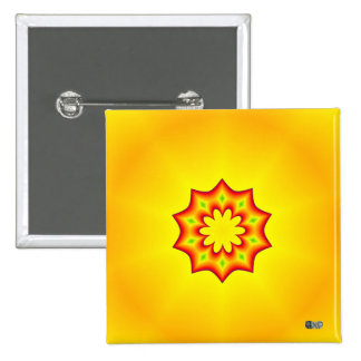 Sunburst Badge 2 Inch Square Button