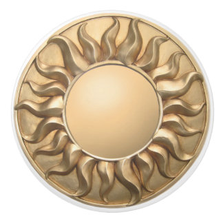 Sunburst Ceramic Knob
