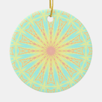 Sunburst Ceramic Ornament