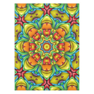 Sunburst Colorful Cotton Tablecloth