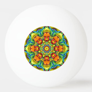 Sunburst Colorful Ping Pong Ball