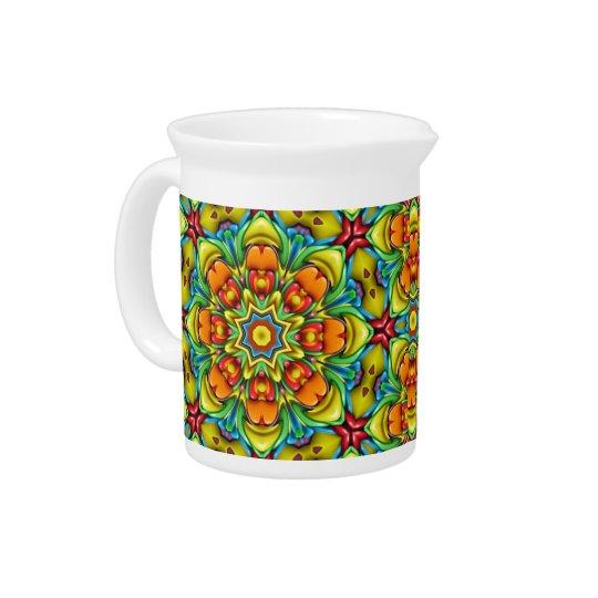 Sunburst Colourful  Kaleidoscope  Pitchers