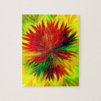 Sunburst Dahlia Jigsaw Puzzle