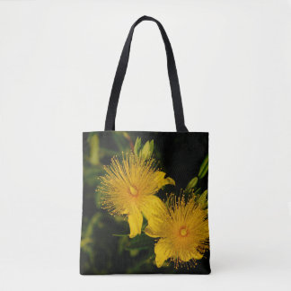 Sunburst Flowers Tote Bag