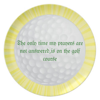 Sunburst golf plate