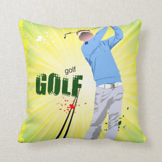 Sunburst golfer pillow,with sunburst back. throw pillow