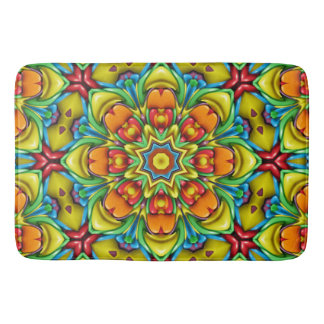 Sunburst Kaleidoscope  Bath Mats