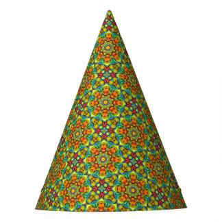 Sunburst Kaleidoscope Customizable Party Hats