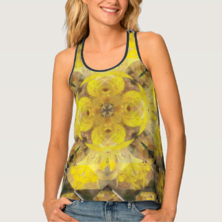 Sunburst Lily Mandala by AspireWonder Productions Tank Top