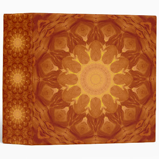 Sunburst Mandala 3 Ring Binders