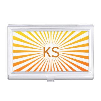Sunburst Monogram Business Card Holders