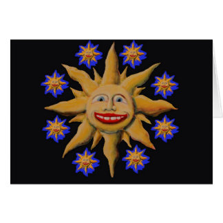 Sunburst on Black Card