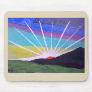 Sunburst Rays of Light Mouse Pad