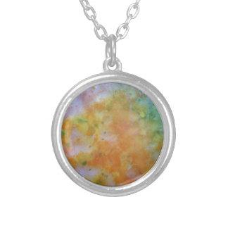 sunburst silver plated necklace